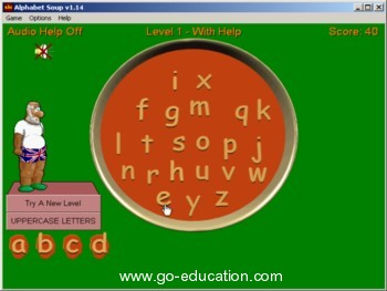 Alphabet Soup - abc learning game
