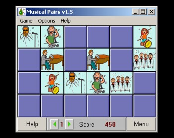 Musical Pairs - music learning game