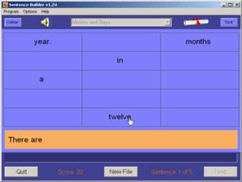 Sentence Builder - correct writing software aid