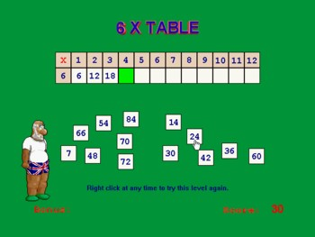 times tables, multiplication tables